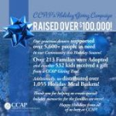 CCAP's 2019 Holiday Giving Campaigns raised over $100,000!