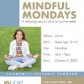 CCAP's VIRTUAL WELLNESS  MINDFUL MONDAYS….A relaxing way to start an active week